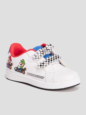 Tennis Mario Kart blanc garcon