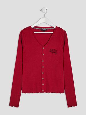 T shirt cotele Liberto rouge fille
