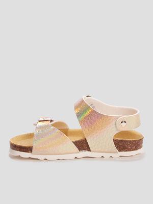 Sandales mules couleur or fille