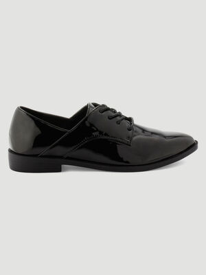 Derbies irises decoupes fantaisie noir femme