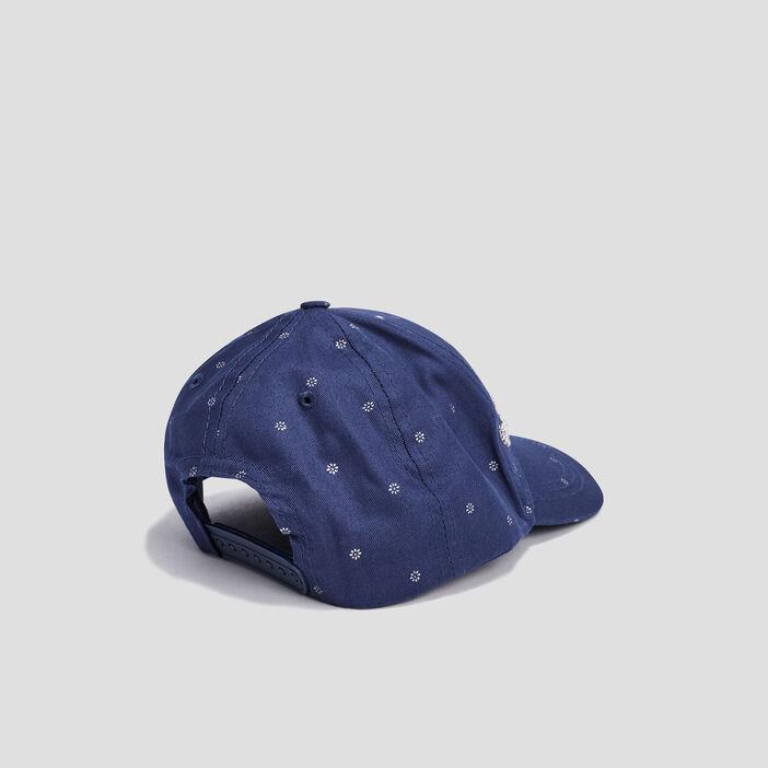 Casquette avec perles fille bleu marine