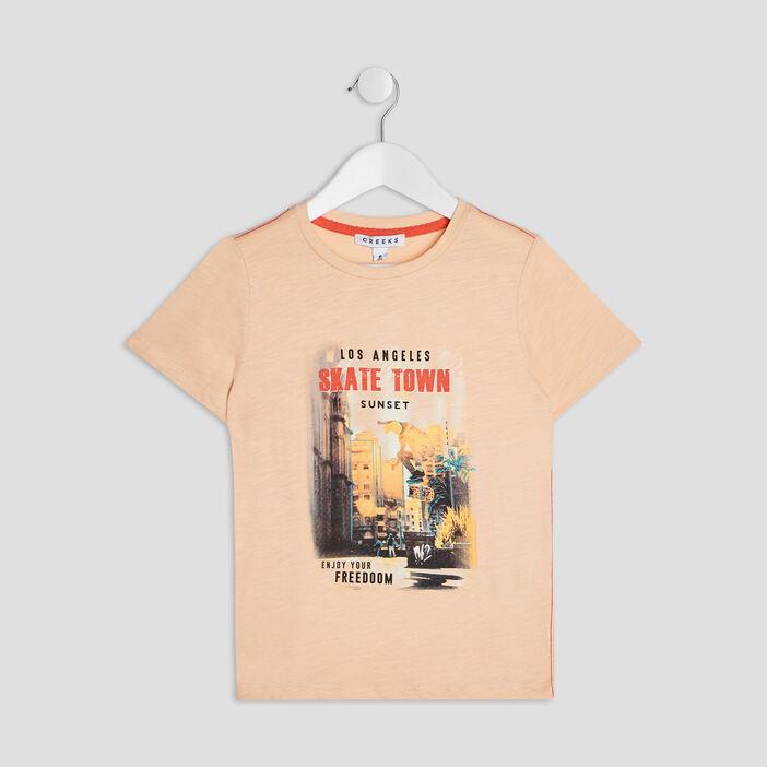 T-shirt manches courtes Creeks garçon rose