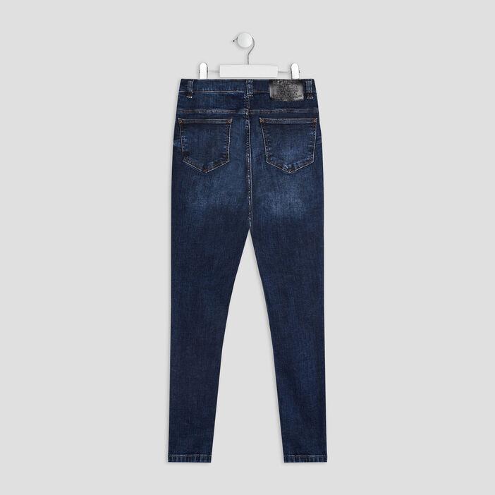 Jeans droit 5 poches fille denim brut