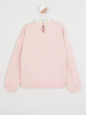 Sweatshirt Comme des betes rose fille