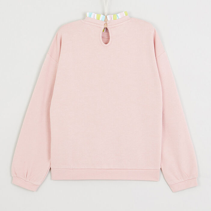 Sweatshirt Comme des bêtes fille rose