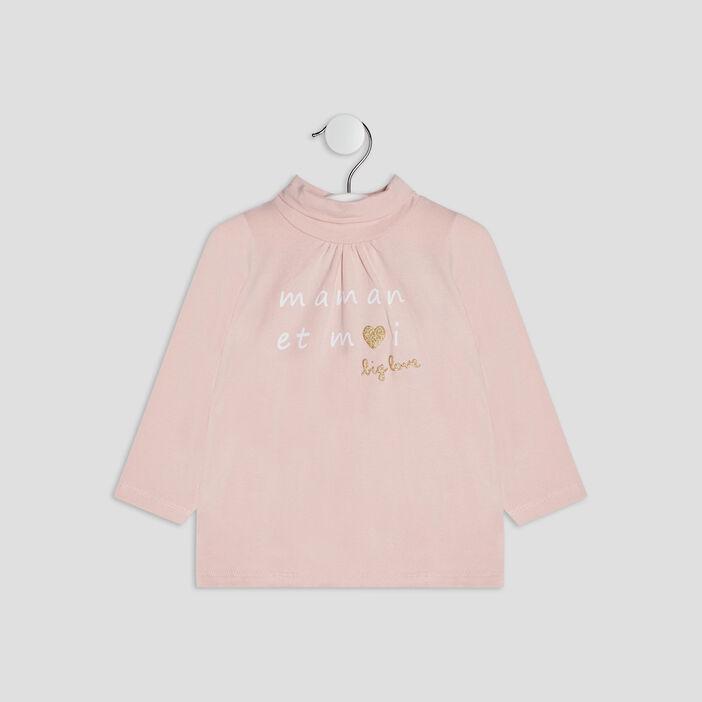 T-shirt manches longues bébé fille rose clair