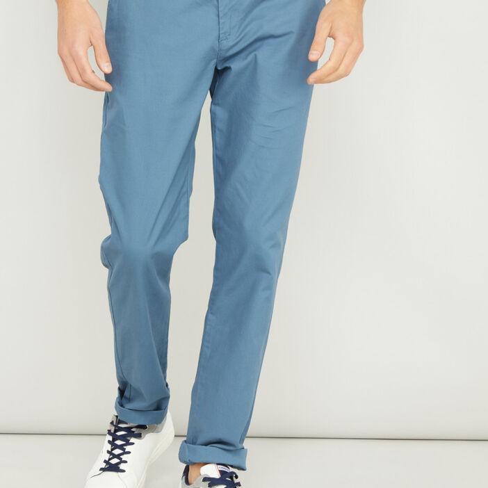 Pantalon droit uni homme bleu