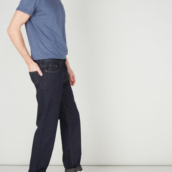 Jean regular coton homme denim blue black