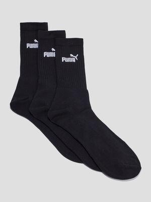 Lot 3 paires chaussettes Puma noir homme