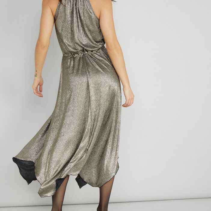 Robe femme couleur or