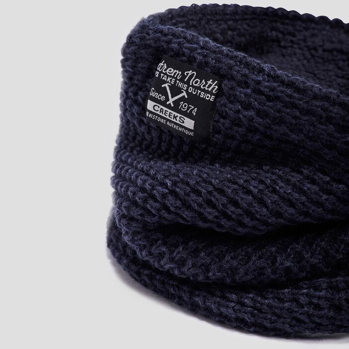 Snood tricoté Creeks garçon bleu marine