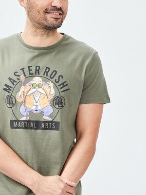 T shirt Dragon Ball vert kaki homme