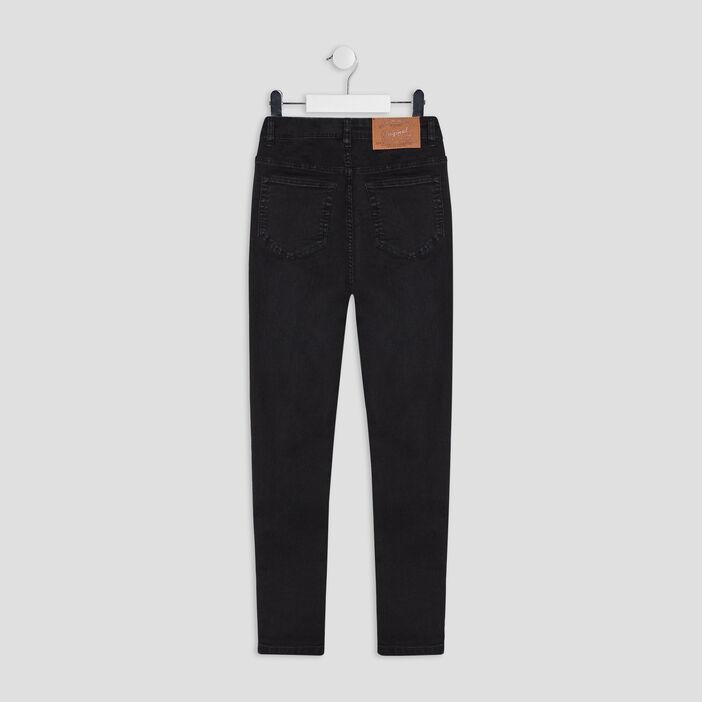 Jeans skinny cropped fille denim snow noir