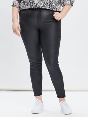 Pantalon skinny grande taille noir femmegt