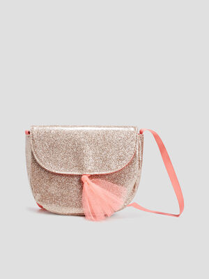 Sac besace a paillettes couleur or fille