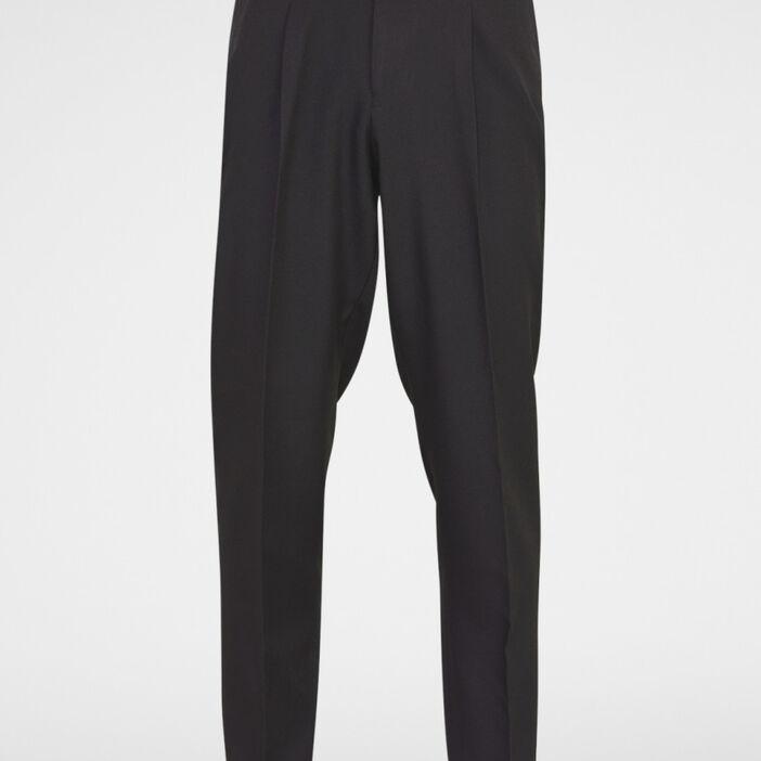Pantalon droit uni homme noir