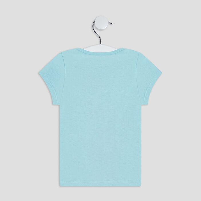 T-shirt manches courtes bébé fille vert pastel