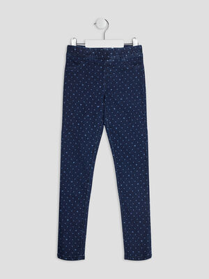Pantalon jegging denim brut fille