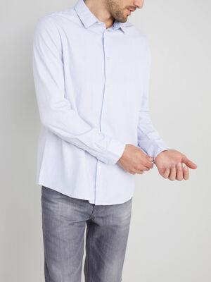 Chemise en coton col classique blanc homme