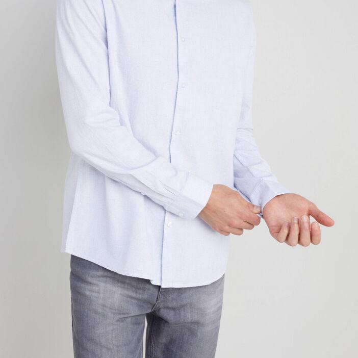 Chemise en coton col classique homme blanc