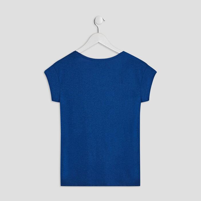 T-shirt manches courtes Creeks fille bleu marine