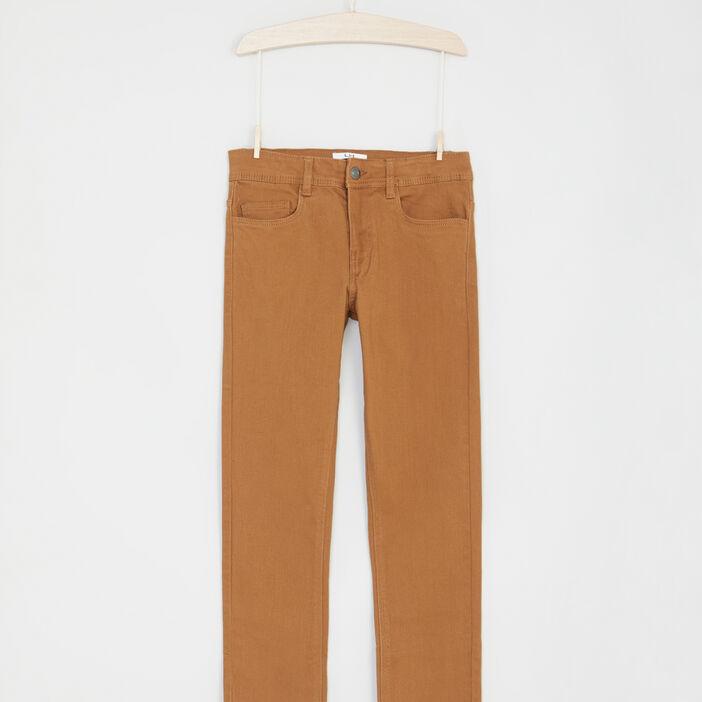 Pantalon uni 5 poches garçon camel