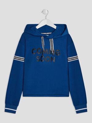 Sweatshirt bleu fille