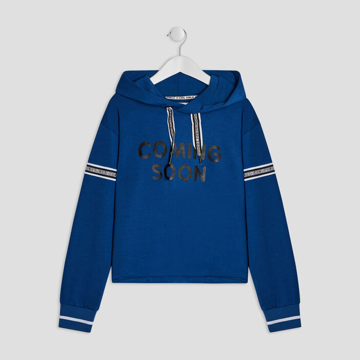 Sweatshirt fille bleu