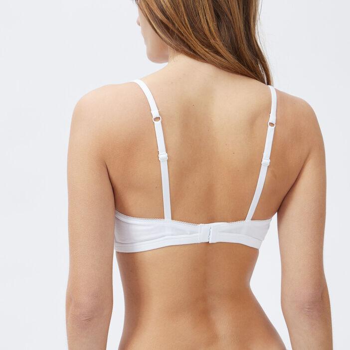 Soutien-gorge triangle femme blanc