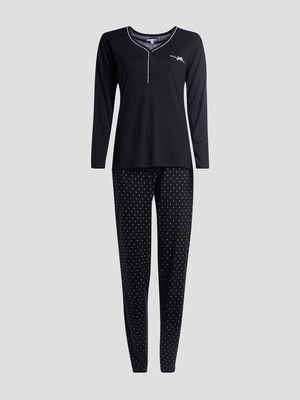 Pyjama DIABOLO bicolore noir femme