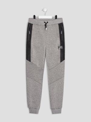 Jogging droit gris garcon
