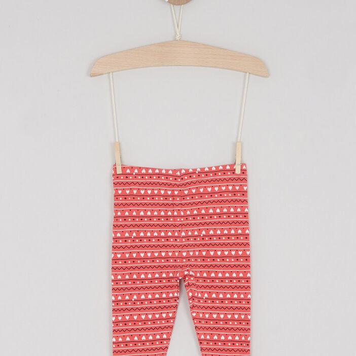 Pantalon legging bébé fille rose framboise
