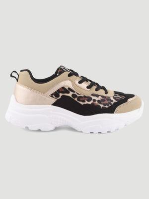 Papa shoes avec imprime beige femme