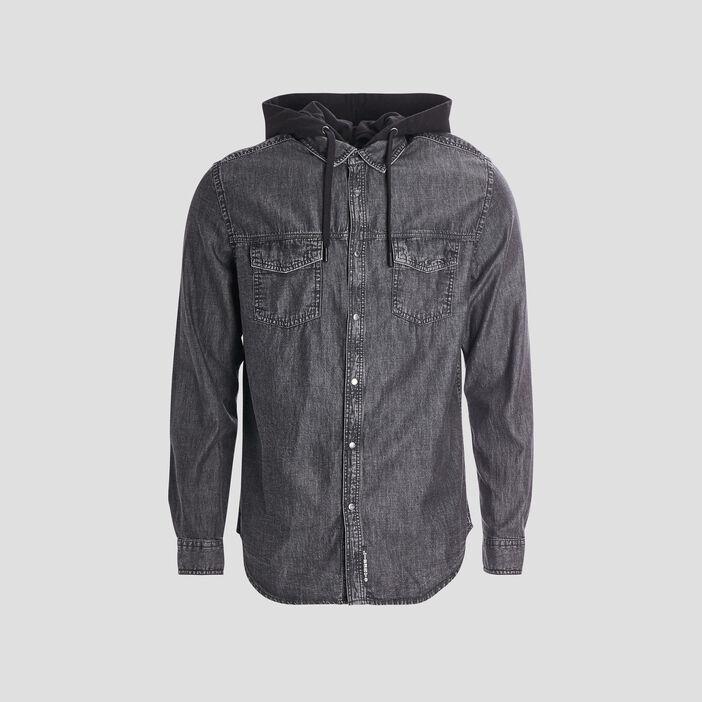 Chemise à capuche Liberto homme gris foncé