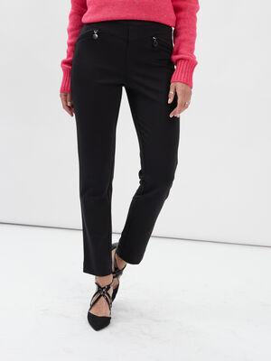 Pantalon ajuste 78eme noir femme