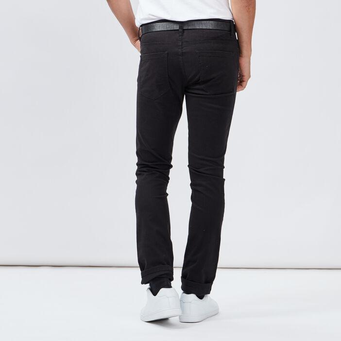 Pantalon slim ceinturé Liberto homme noir
