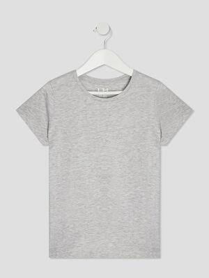 T shirt manches courtes gris fille