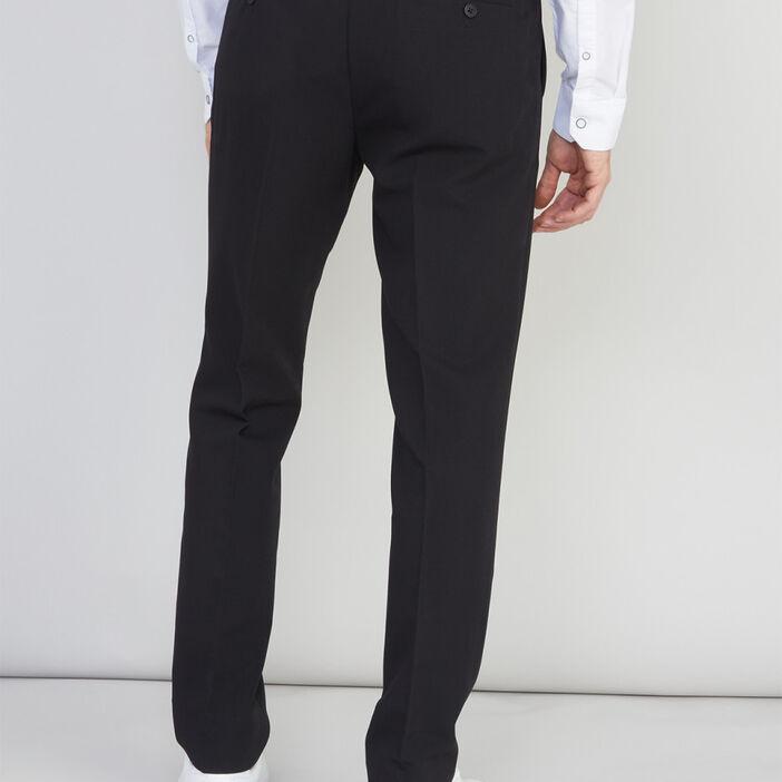 Pantalon slim avec pli homme noir