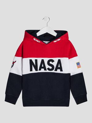 Sweat a capuche NASA multicolore garcon