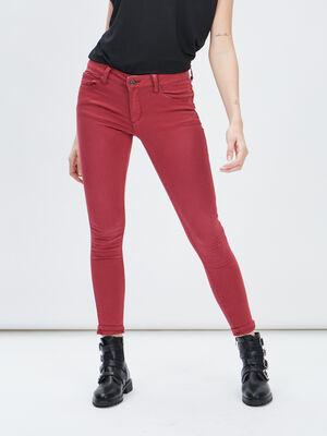 Pantalon skinny rouge femme