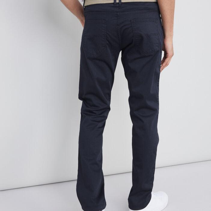 Pantalon avec ceinture tressée homme bleu