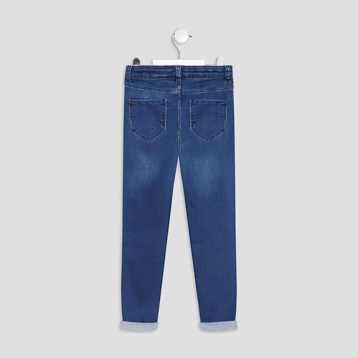 Jeans skinny taille ajustable fille denim stone