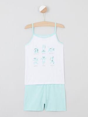 Pyjama bleu turquoise fille
