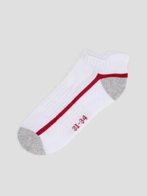 Lot 4 paires de socquettes blanc garcon
