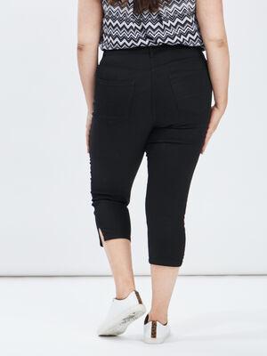 Pantalon corsaire slim noir femmegt
