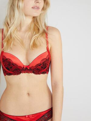 Soutien gorge ampliforme PRUNELLE rouge femme