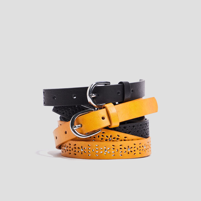 Lot 2 ceintures perforées  multicolore
