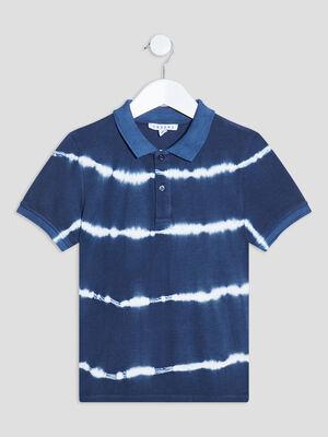 Polo manches courtes bleu marine garcon