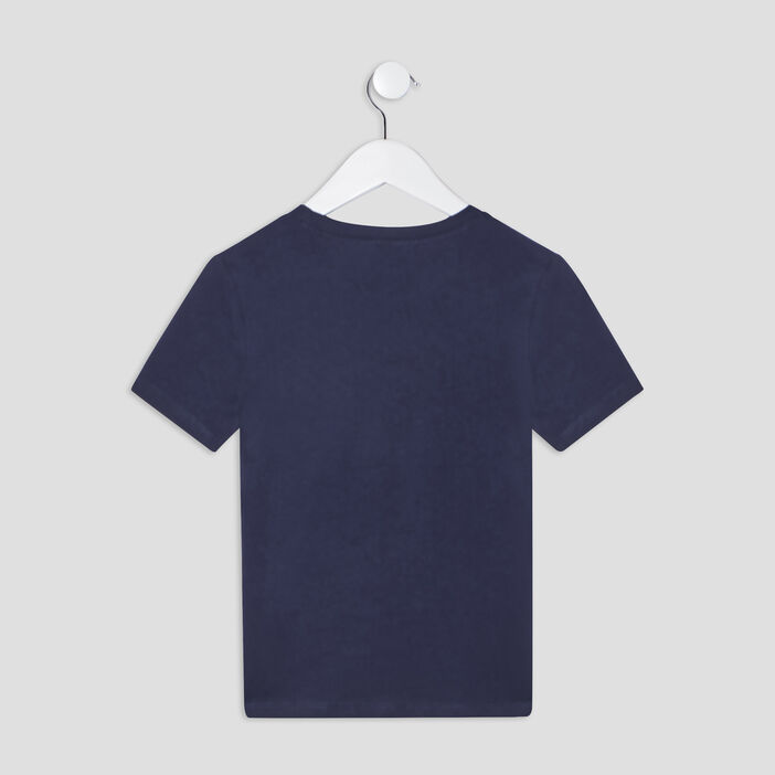 T-shirt manches courtes garçon bleu marine