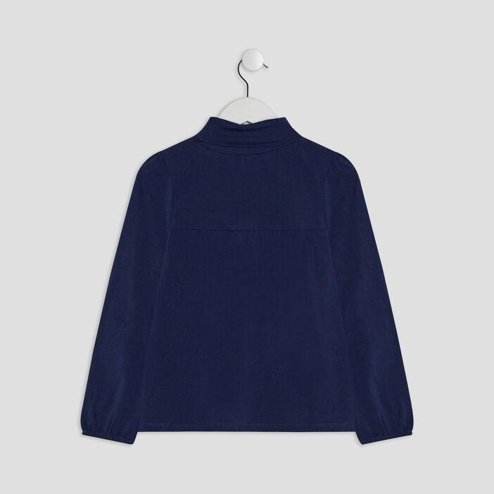 T-shirt manches longues fille bleu marine